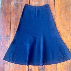 Sandro navy blue lace knit skirt stretchy